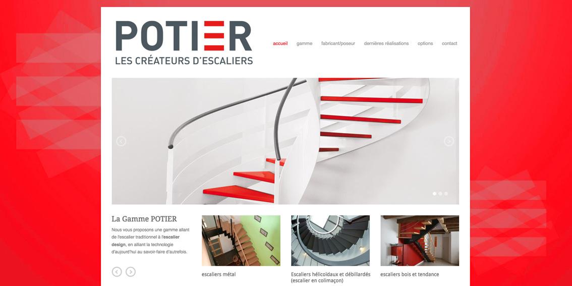 site web escaliers potier par david samzun. Black Bedroom Furniture Sets. Home Design Ideas