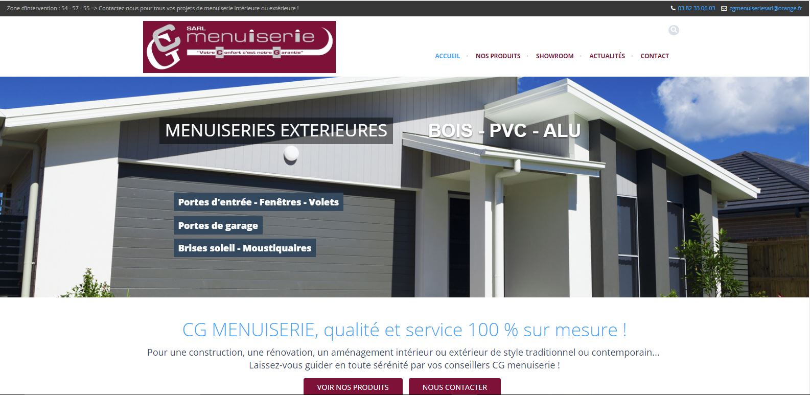 Site internet Wordpress CG Menuiserie