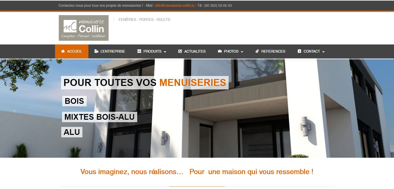 Site internet Wordpress Menuiserie Collin Luxembourg