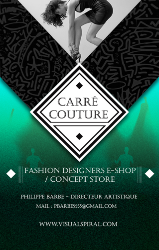 Carre Couture Carte De Visite Philippe Barbe Webdesigner Graphiste Directeur Artistique